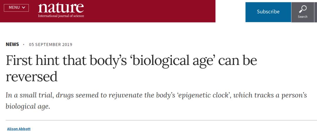 里程碑!Nature新闻!临床试验首次表明人体生理时钟有望被回拨(返老还童、青春永驻可能不再是白日梦?)