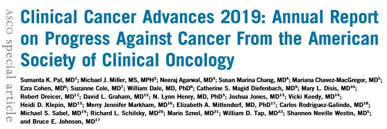 2019年癌症临床进展 | 美国临床肿瘤学会(ASCO)年度报告(中)