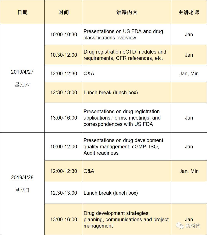 FDA药品法规培训   坐标:上海 时间:4月27-28日