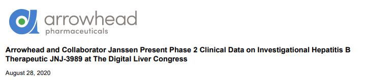 杨森RNAi疗法最新披露丨功能性治愈乙肝!沉默转录 停药48周持久应答!