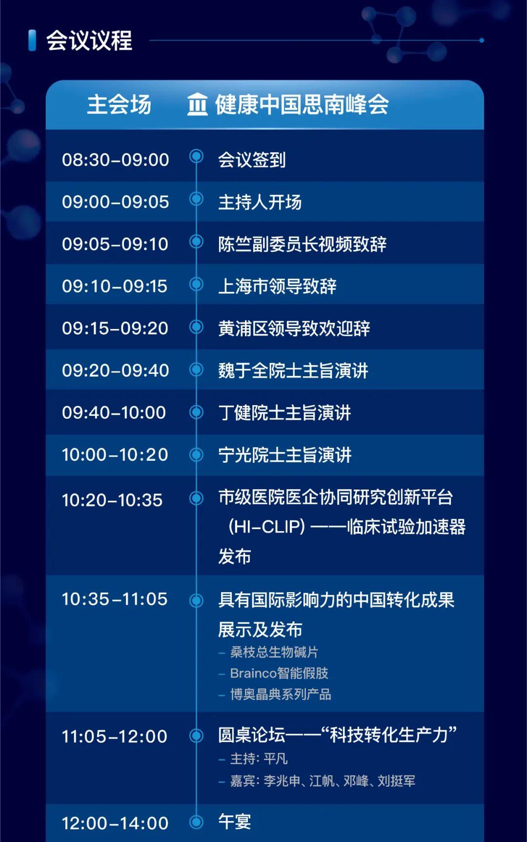 第二届健康中国思南峰会上海开启 亮点纷呈抢先看