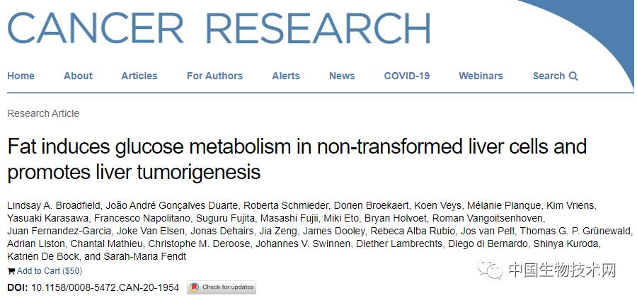 """高脂肪饮食下:正常肝细胞变成了肿瘤的""""模样""""..."""