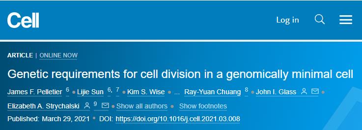 """Cell重磅:十年磨一剑,科学家成功合成出可正常生长分裂的 """"人造细胞"""""""