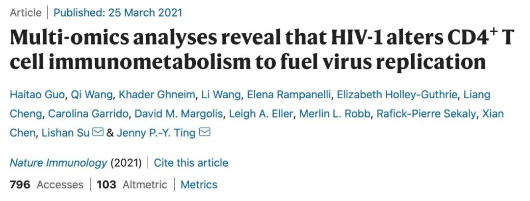 Nature子刊 还能治疗艾滋病?神药二甲双胍再填新功效