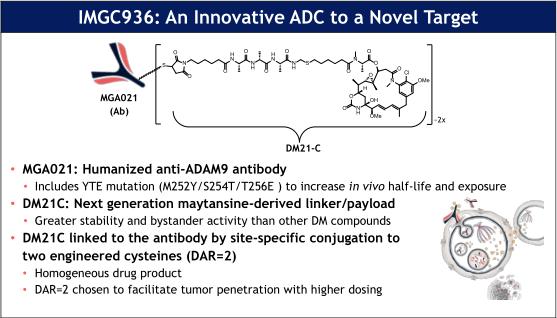 首款靶向ADAM9的ADC—IMGC936
