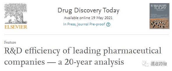 分析全球领先药企近20年的研发效率,揭示不同规模药企的生存之道