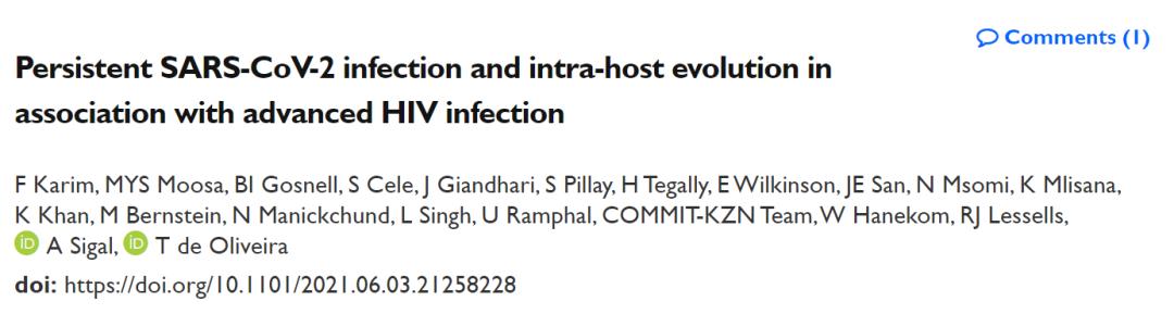 新冠病毒在艾滋病患者体内快速突变,导致新冠病毒加速进化、更加强大
